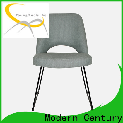 trendy white leather dining chairs factory for table