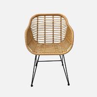 Rattan Chair Satu W580×D590×H820 Rattan With Metal ( Outdoor Powder Coating )