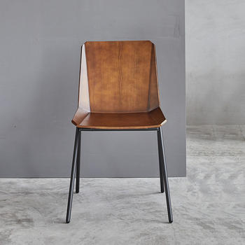 Wooden Chair Amanda Side W475×D515×H795 SH460 Steel Frame With Solid Ash Wood Seat And Back