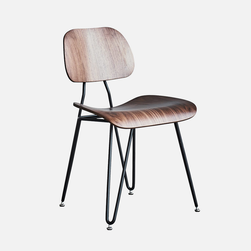 Wooden Chair Edge W500×D580×H810 SH485 Made Of Recycled Excess Pieces Of Beech Or Oak Veneer