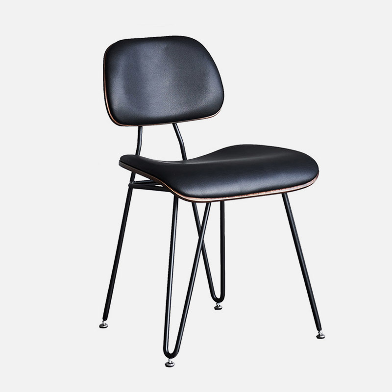 Wooden Chair Edge W500×D590×H810 Steel Frame, Plywood Seat And Back