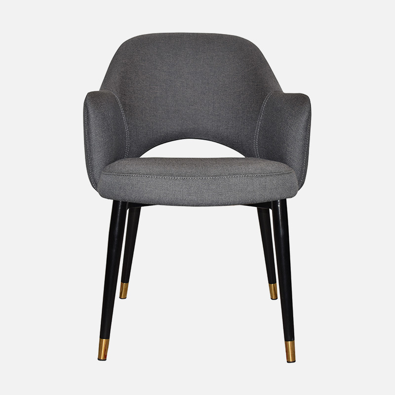 Dining Chairs Abbey Arm W570×D620×H840 SH490 With PU Seat with rub test more than 10,000 times