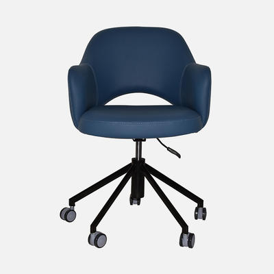 Office Chair Abbey Arm W600×D620×H840 SH490 Chair Easily Swivels 360 Degrees Adjustable Height