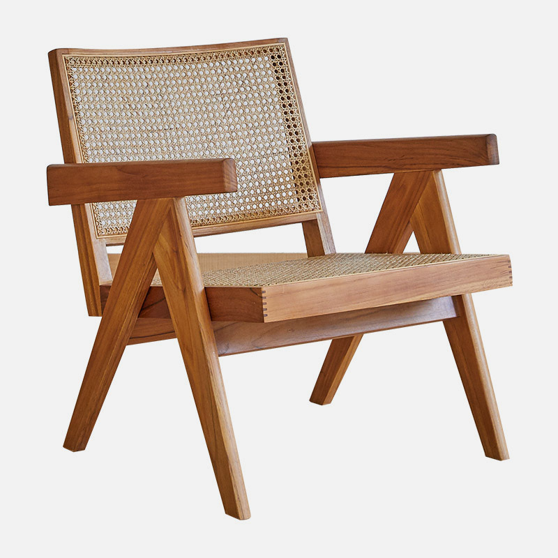 Wooden Chair Kobe W485×D680×H700 SH365 With Its Upright Stance And Solid Wood Frame With Rattan Seat And Back