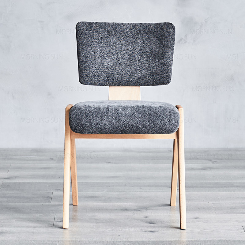 Wooden Chair Metro W455×D490×H780 SH450 Solid Beech Wood Frame With Upholstery Seat And Back