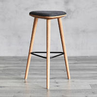 Bar Stools Sana W520×D460×H765 Solid Ash Wood Frame With Upholstered Seat Extremely Sturdy And Durable