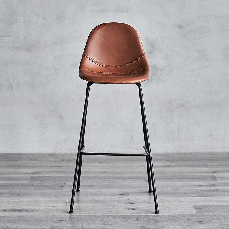 Nero W500×D530×H1040 SH760 Commercial Antique Restaurant Industrial Counter Bistro Bar Stool Chair Bar Furniture For Cafe Bar Stool